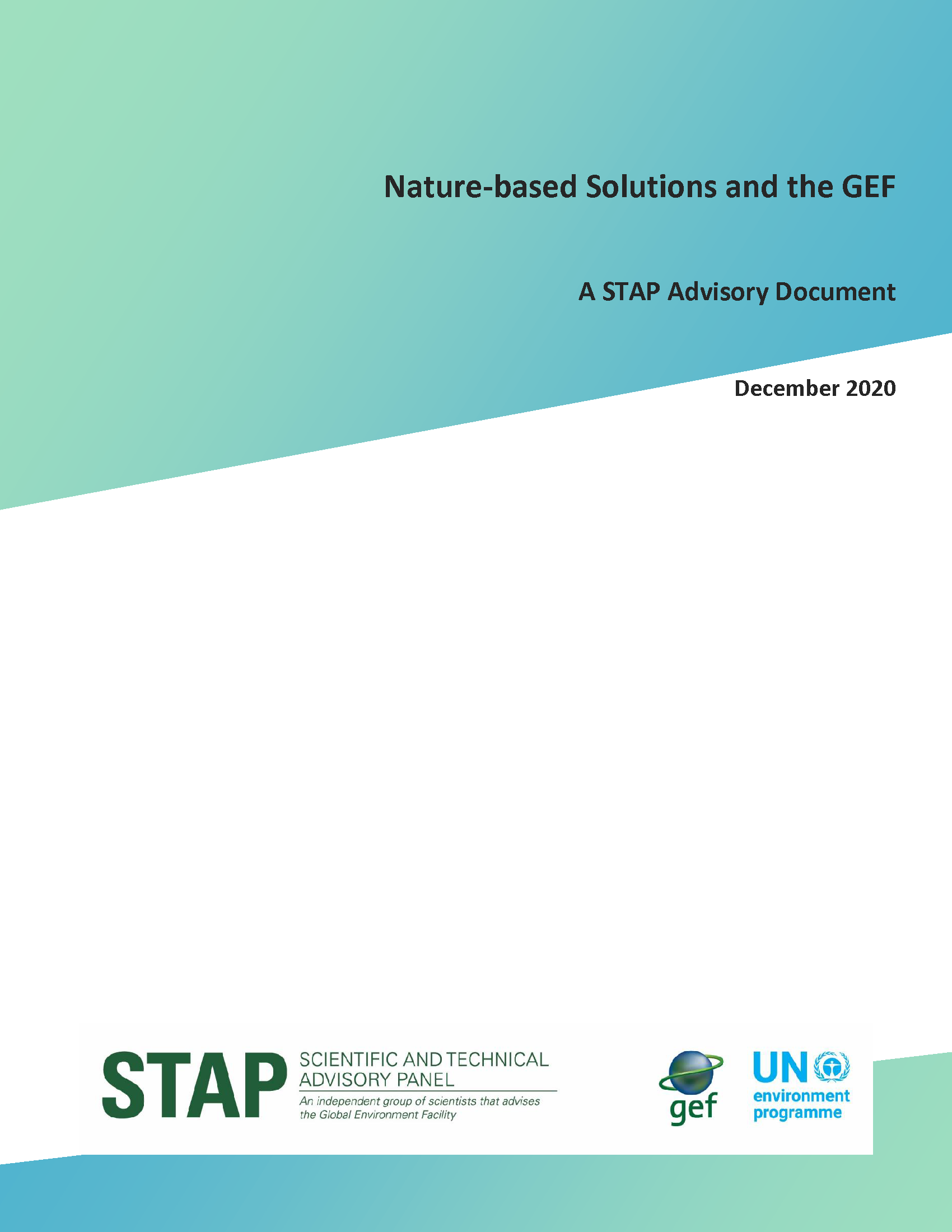 Nature-based Solutions and the GEF